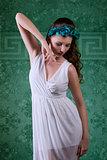 sensual spring brunette girl