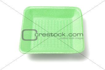 Green Styrofoam Tray