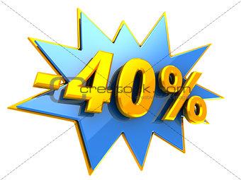 40 percent disocunt