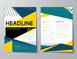 set of business magazine cover , flyer, brochure flat design tem