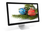 christmas decoration on screen