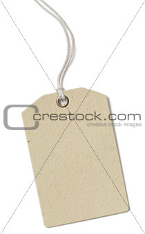 Blank price cloth tag isolated