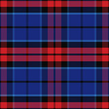vector seamless red and blue Scottish tartan