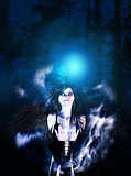 Dark Angel in the Forest