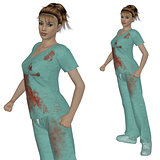 Nurse in scrubs