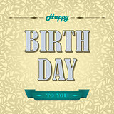 Happy birthday poster background