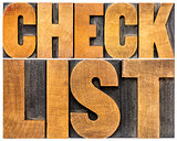 checklist word typography