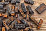 letterpress wood type printing blocks