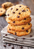 Oastmeal cookies with chocolate