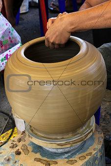 Potter making