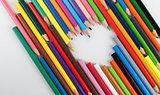 Pencils in heart shape