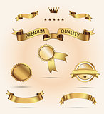 Set of Superior Quality and Satisfaction Guarantee Ribbons, Labels, Tags.