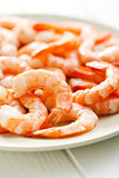 tasty prawns on plate