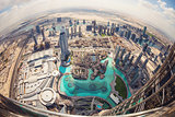 DUBAI, UAE - FEBRUARY 24 - View of downtown Dubai from Burj Khalifa, United Arab Emirates. Picture taken on February 24, 2015.