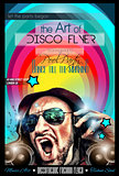 Disco Night Club Flyer layout with DJ shape