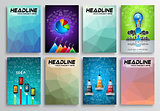 Set of Flyer Design, Infographics. Brochure Designs,