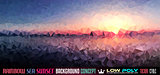 Low Poly tSea Sunset Art background for your flyer