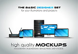 Modern devices mockups for your business projects