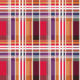 Rectangular tartan seamless texture mainly in warm hues
