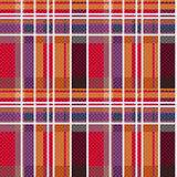 Rectangular tartan seamless texture mainly in warm colors