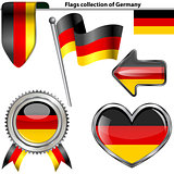 Glossy icons with flag of Germany