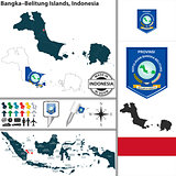 Map of Bangka Belitung Islands, Indonesia