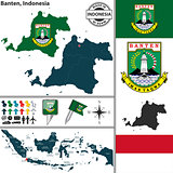 Map of Banten, Indonesia