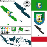 Map of Bengkulu, Indonesia