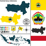 Map of Central Java, Indonesia