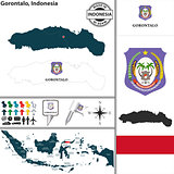 Map of Gorontalo, Indonesia
