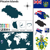 Map of Pitcairn Islands