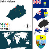 Map of Saint Helena Island