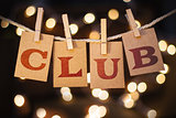 Club Concept Clipped Cards and Lights