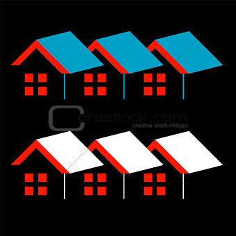 Abstract home- logo for real estate or architecture firm