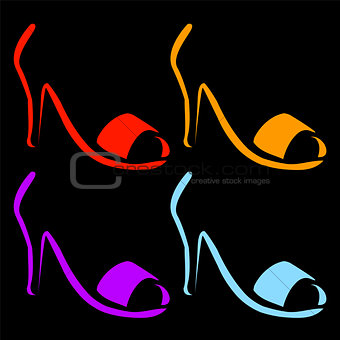 Abstract logo for designer footwear