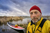senior SUP paddler self portrait