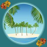 tropical island border