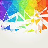 Abstract polygonal rainbow background2