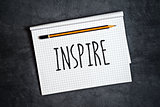 Inspire Creative Writing Concept