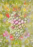 Bunch of grapes with background