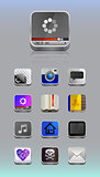Detailed icons for smartphone