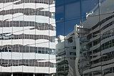 Glass facade.