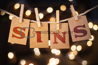 Sins Concept Clipped Cards and Lights