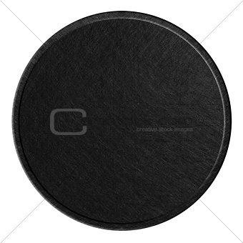 black round metal plate
