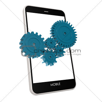 Smartphone with gear