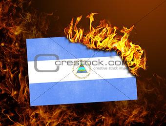 Flag burning - Nicaragua
