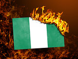 Flag burning - Nigeria