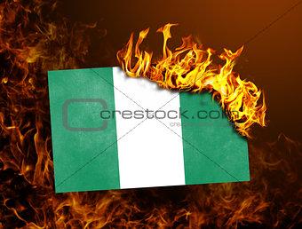 Flag burning - Nigeria