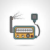 Radio device flat color vector icon