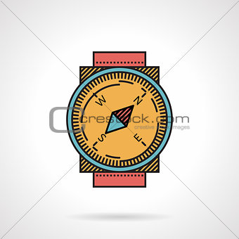 Classic compass flat color vector icon